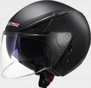 KASK LS2 OF586 BISHOP SOLID MATT BLACK -Blenda !