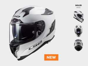 KASK LS2 FF327 CHALLENGER WHITE