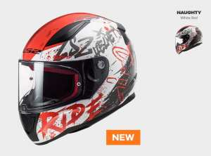 KASK MOTOCYKLOWY  COMFORT KASK LS2 FF353 RAPID NAUGHTY WHITE RED  nowość:  2020