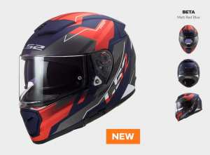 KASK LS2 FF390 BREAKER BETA MATT RED BLUE  nowość: 2020