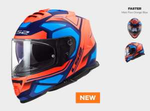 KASK LS2 FF800 STORM FASTER MATT ORANGE BLUE  - kolekcja 2020