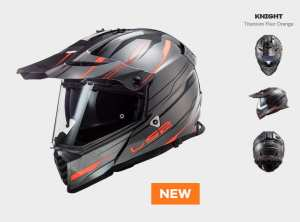 KASK LS2 MX436 PIONEER EVO KNIGHT TITAN ORANGE