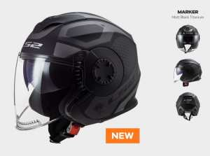 KASK LS2 OF570 VERSO MARKER MATT BLACK TITAN