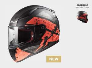 KASK MOTOCYKLOWY KASK LS2 FF353 RAPID DEADBOLT BLACK/ORANGE , model 2019 !