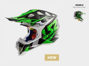 KASK MOTOCYKLOWY OFF ROAD ENDURO LS2 MX470 SUBVERTER NIMBLE BL/WHITE GREEN