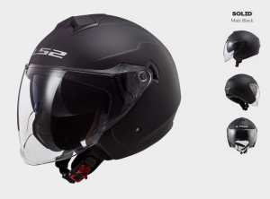 Kask MOTO  KASK LS2 OF573 TWISTER II SOLID MATT BLACK -  BLENDA !