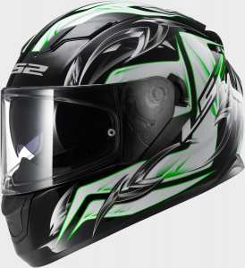 KASK LS2 FF320 STREAM STEEL WHITE BLACK GREEN