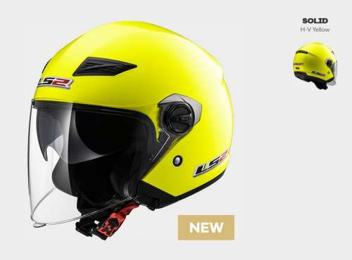 Kask MOTO KASK LS2 OF569.2 TRACK SOLID H-V YELLOW - BLENDA