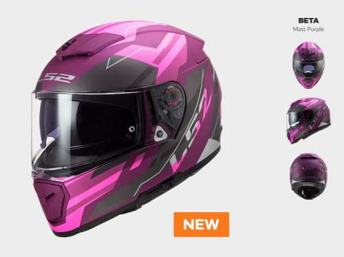 KASK LS2 FF390 BREAKER BETA MATT PURPLE nowość: 2020 prilba ls2 ff390 solid black