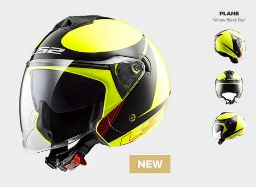 Kask MOTO LS2 F573 TWISTER SOLID PLANE H-V YELLOW - BLENDA